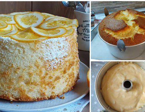 TORTA FAVOLOSA CHIFFON CAKE dolce all'arancia senza burro