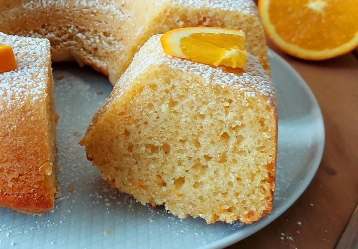 ciambella facilissima all'arancia dolce soffice senza burro