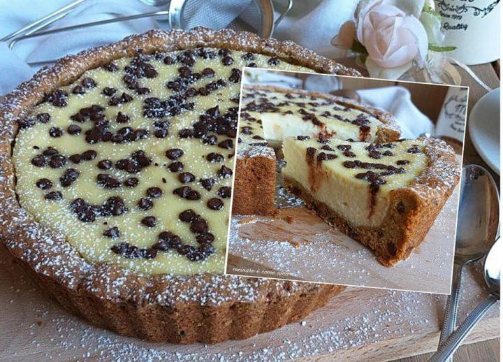 crostata favolosa mascarpone e cioccolato dolce ripieno cremoso