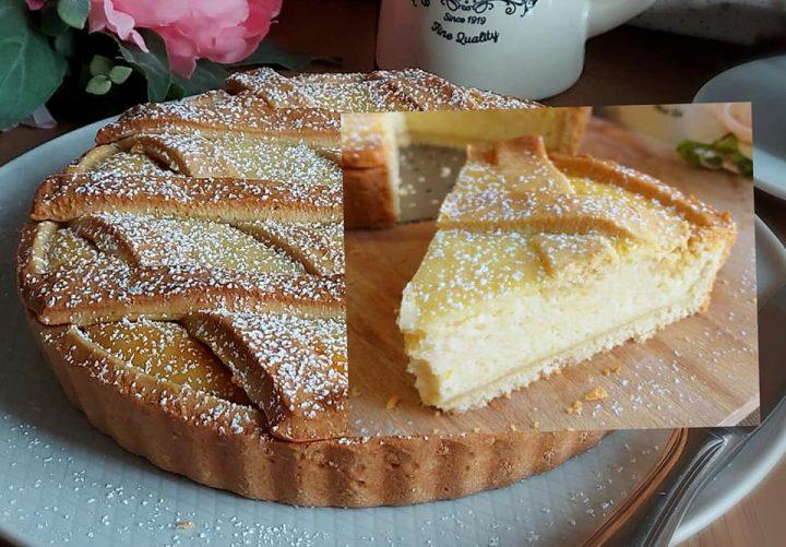 crostata favolosa panna e ricotta dolce ripieno cremoso
