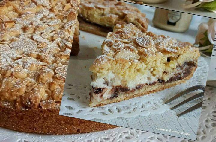 crostata sbriciolata favolosa cioccolato ricotta dolce ripieno cremoso