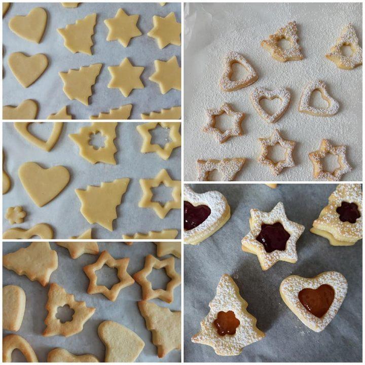 impasto biscotti natale all'olio dolce ripieno marmellata