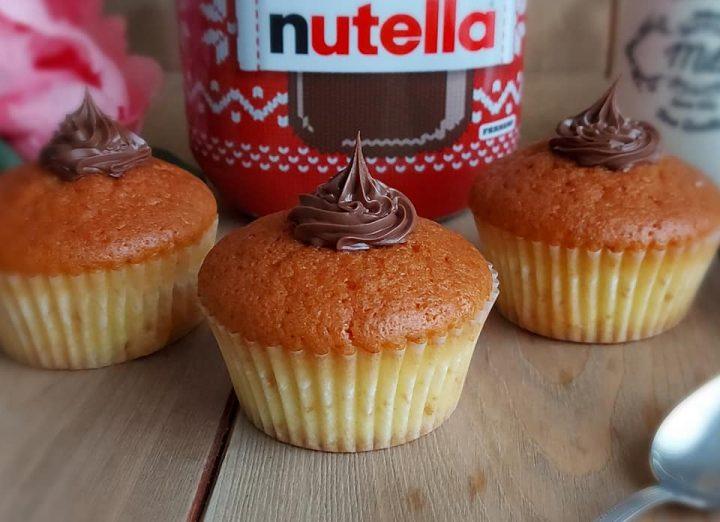 muffin tortina con nutella dolce soffice e goloso
