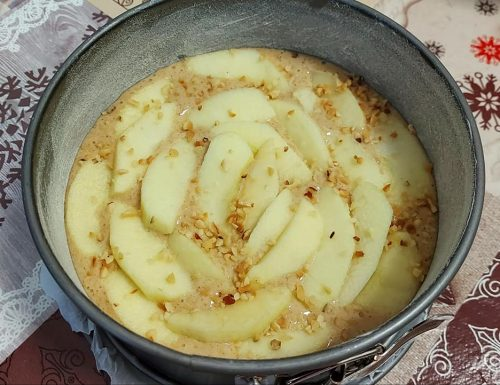 IMPASTO TORTA NOCCIOLE E MELE dolce senza burro