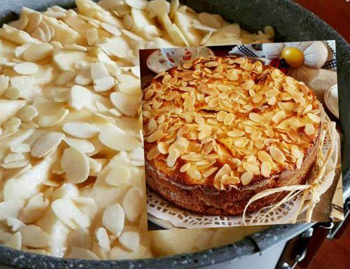 TORTA TANTE MELE E MANDORLE dolce della nonna senza burro