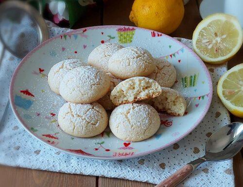 BISCOTTI NUVOLE DI RISO AL LIMONE dolce ricetta senza glutine