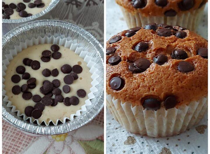 muffin merenda yogurt e cioccolato dolce soffice senza burro