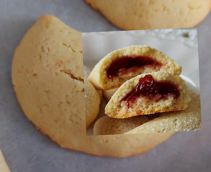 biscotti mezzaluna di frolla perfetti dolce ripieno marmellata