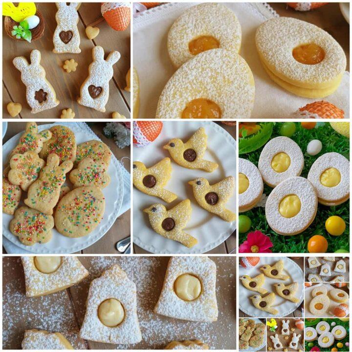 biscotti mix di pasqua ripieni tante idee con un'unico impasto
