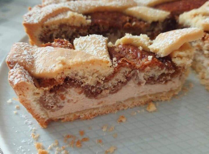 crostata torta frolla tiramisu' al forno dolce ripieno cremoso