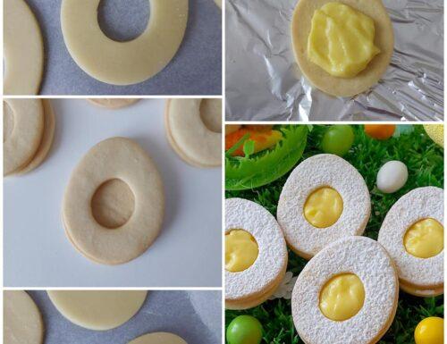 IMPASTO BISCOTTI OVETTE DI PASQUA dolce ripieno crema