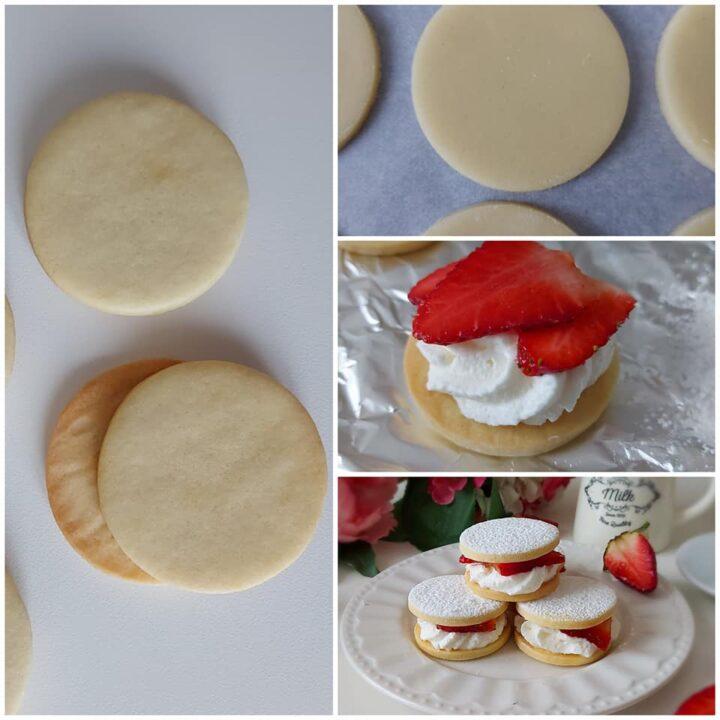 impasto biscotti paradiso con fragole dolce ripieno goloso