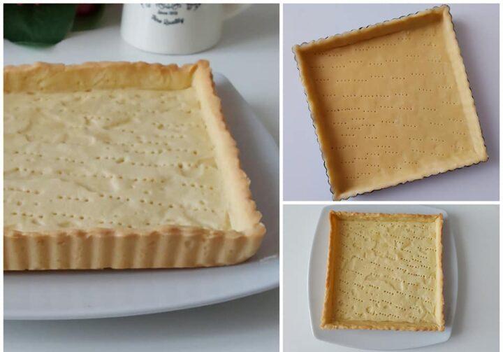 impasto collaudato guscio di frolla dolce base per crostate da farcire