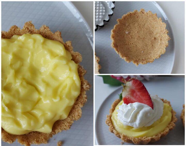 impasto senza cottura per crostatine dolce ripieno crema e panna
