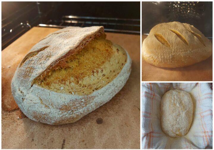 pane alla curcuma impasto con 3g di lievito di birra fresco