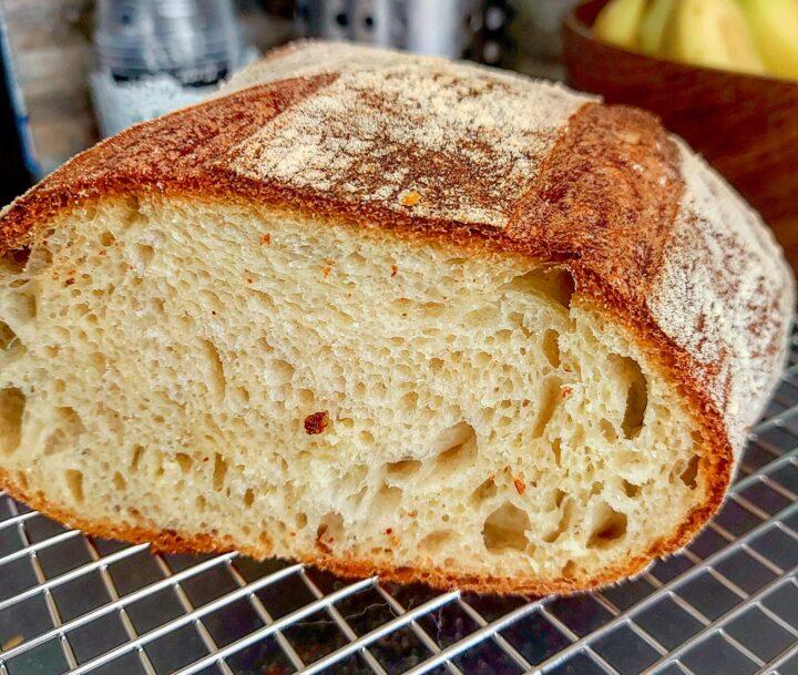 pane misto semola ricetta a lunga lievitazione con lievito di birra