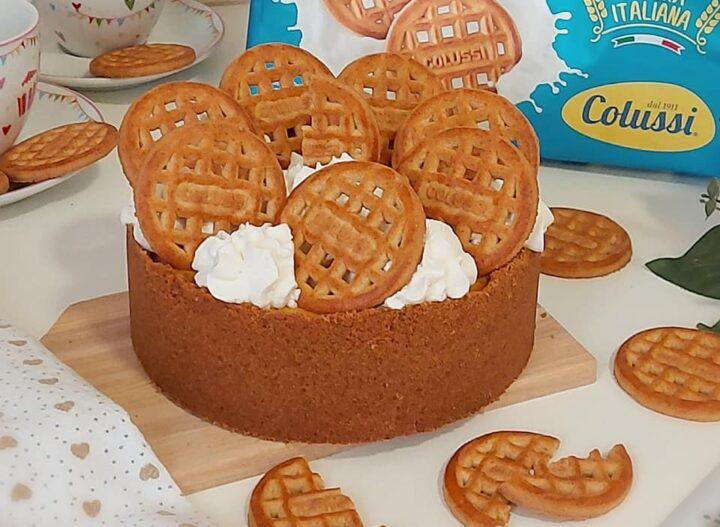 torta cheesecake biscottella dolce ripieno cremoso