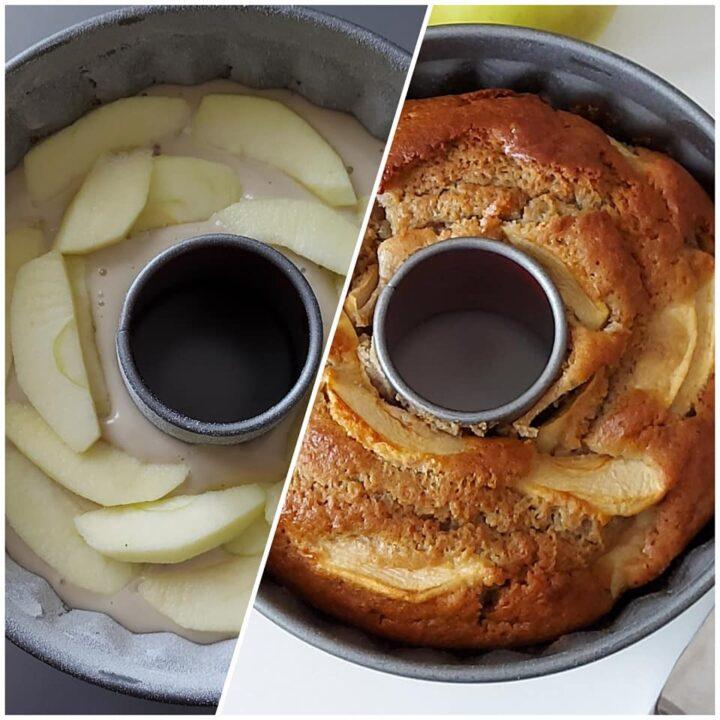ciambella semplice tante mele dolce senza burro della nonna
