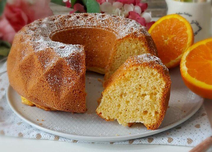 ciambella senza burro all'arancia dolce soffice della nonna
