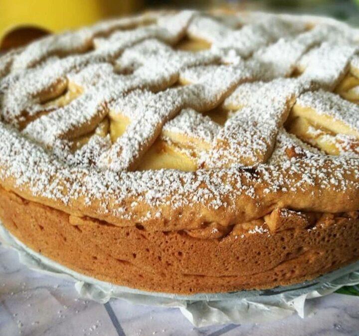 crostata della nonna con mele dolce ripieno