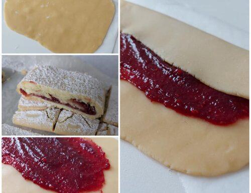 IMPASTO BISCOTTI ARROTOLATI DI NONNA dolce ripieno marmellata