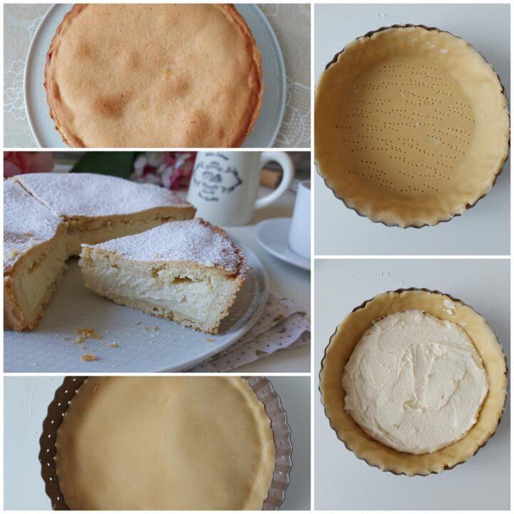 impasto crostata crema latte e ricotta dolce ripieno