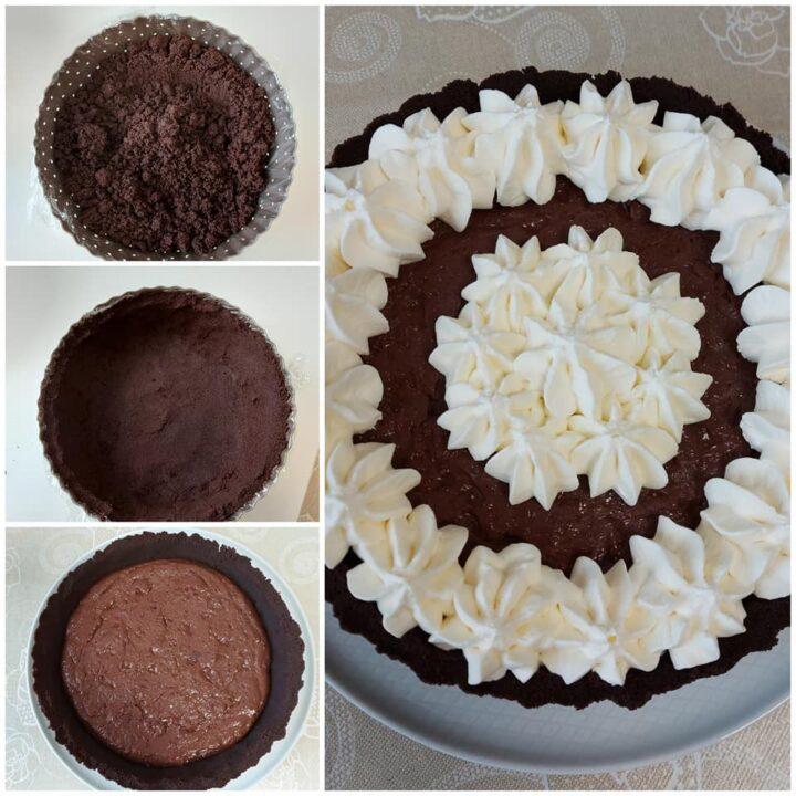 impasto crostata golosa senza cottura ripieno cioccolato e panna