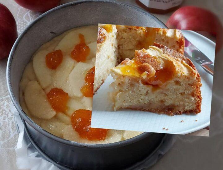 torta favola di marmellata e mele dolce della nonna