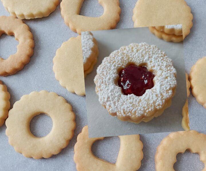 biscotti frollini collaudati da pasticceria dolce ripieno marmellata