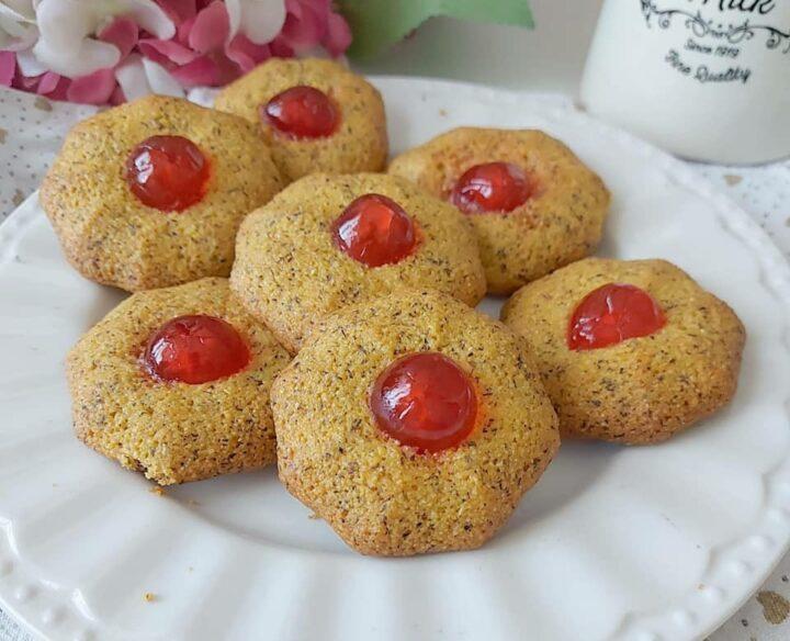 biscotti frollini mandorle e mais dolce senza burro
