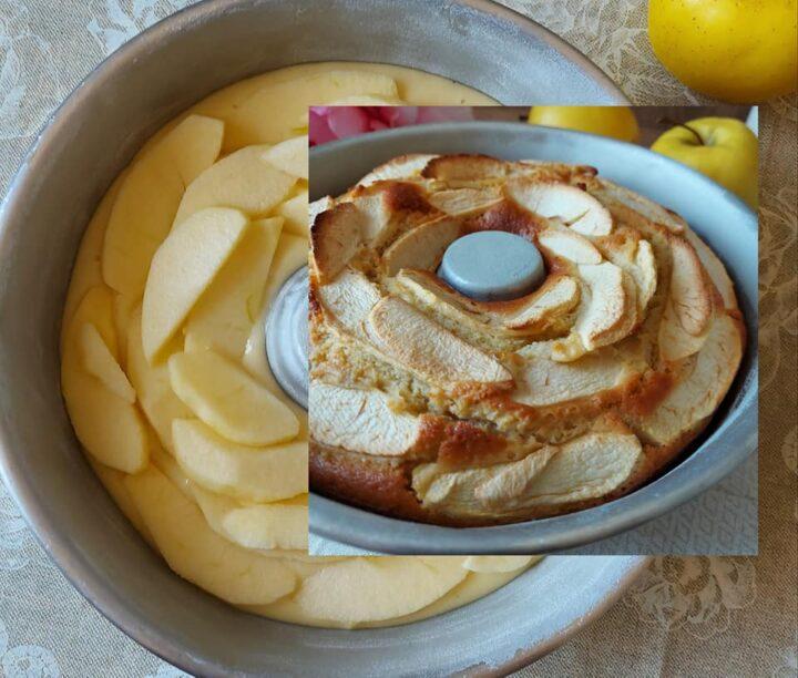 ciambella intramontabile con tante mele dolce della nonna