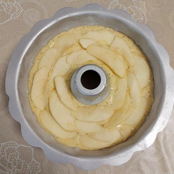 impasto ciambella mela e vaniglia dolce soffice senza burro