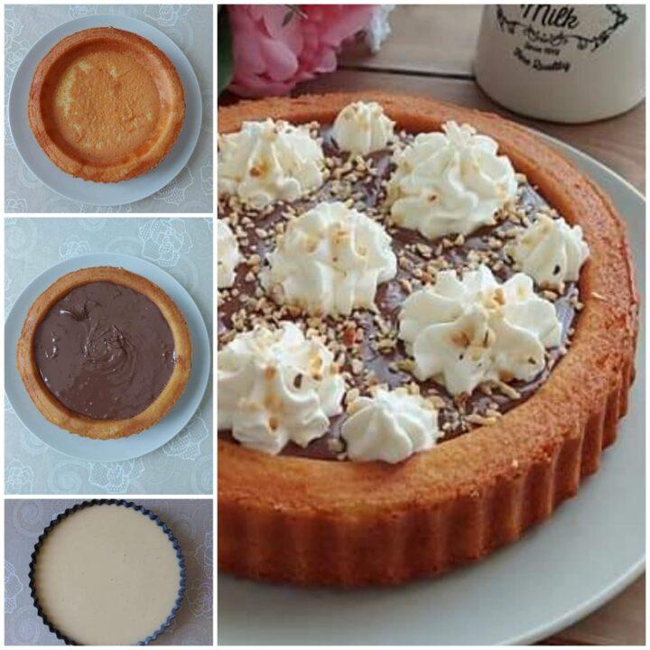 impasto crostata morbida panna e nutella dolce ripieno facile