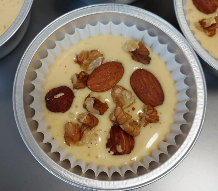 impasto muffin tortine con frutta secca dolce senza burro