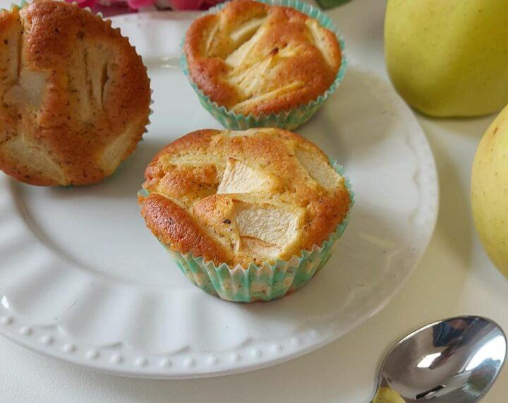 muffin nuvola con mele dolce senza burro