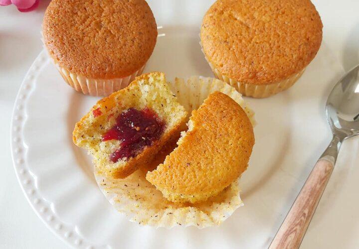 muffin tortina limone e marmellata dolce ripieno