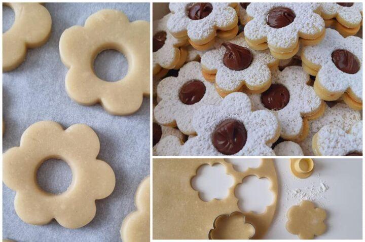 biscotti frollini stragolosi con nutella dolce ripieno
