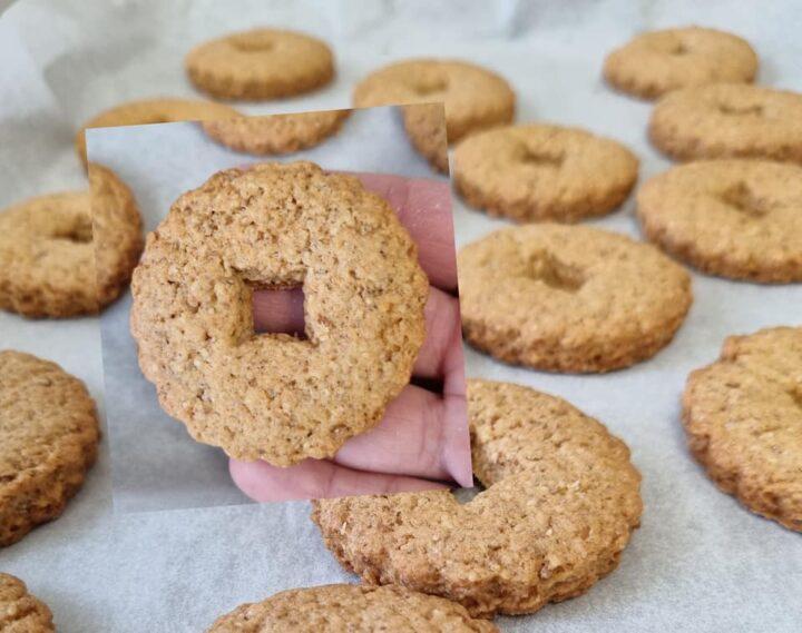 biscotti rustici con farina integrale dolce da inzuppo senza burro
