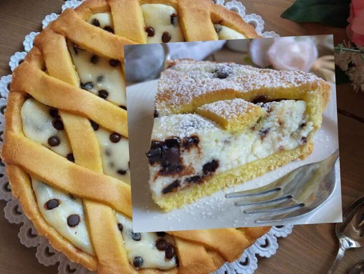 crostata favola golosa di mascarpone e cioccolato dolce ripieno