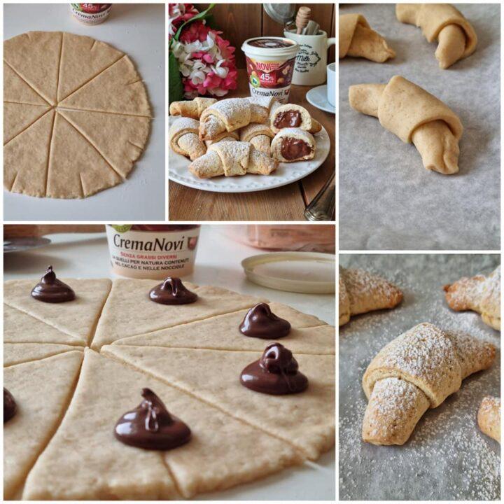 impasto per biscotti a forma di cornetto dolce ripieno goloso