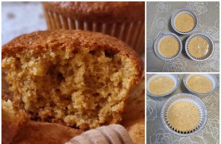 impasto per muffin miele e carote dolce senza burro