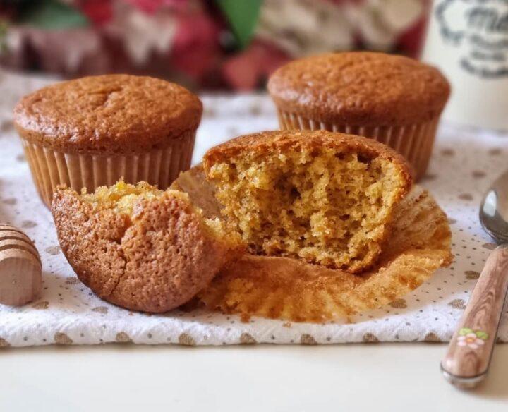 muffin nuvolette miele e  carote dolce senza burro