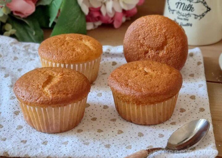muffin semplici e genuini con yogurt dolce soffice senza burro