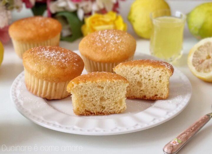 muffin tortine nuvole al limoncello dolce ricetta senza burro
