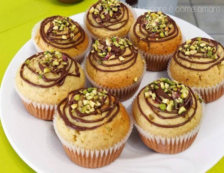 muffin tortine pistacchio e nutella dolce ripieno goloso