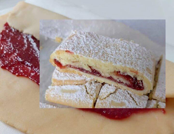 ricetta collaudata biscotti arrotolati della nonna dolce ripieno marmellata