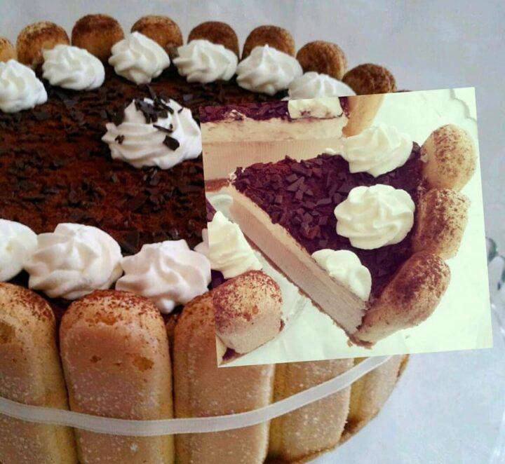 torta charlotte favola al tiramisu' dolce bello e goloso