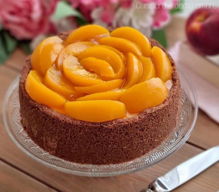 torta cheesecake meraviglia alle pesche dolce ripieno cremoso