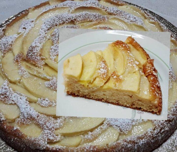 torta classica di mele facile facile dolce senza burro