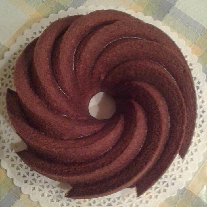 ciambella vortice di cacao e yogurt dolce senza burro